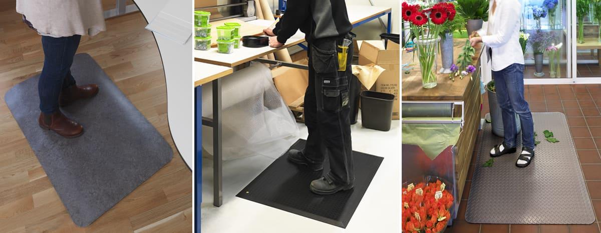 Arbetsplatsmattor Comfort mats - Yoga Step Zedlan, Yoga ESD samt Yoga Deck.