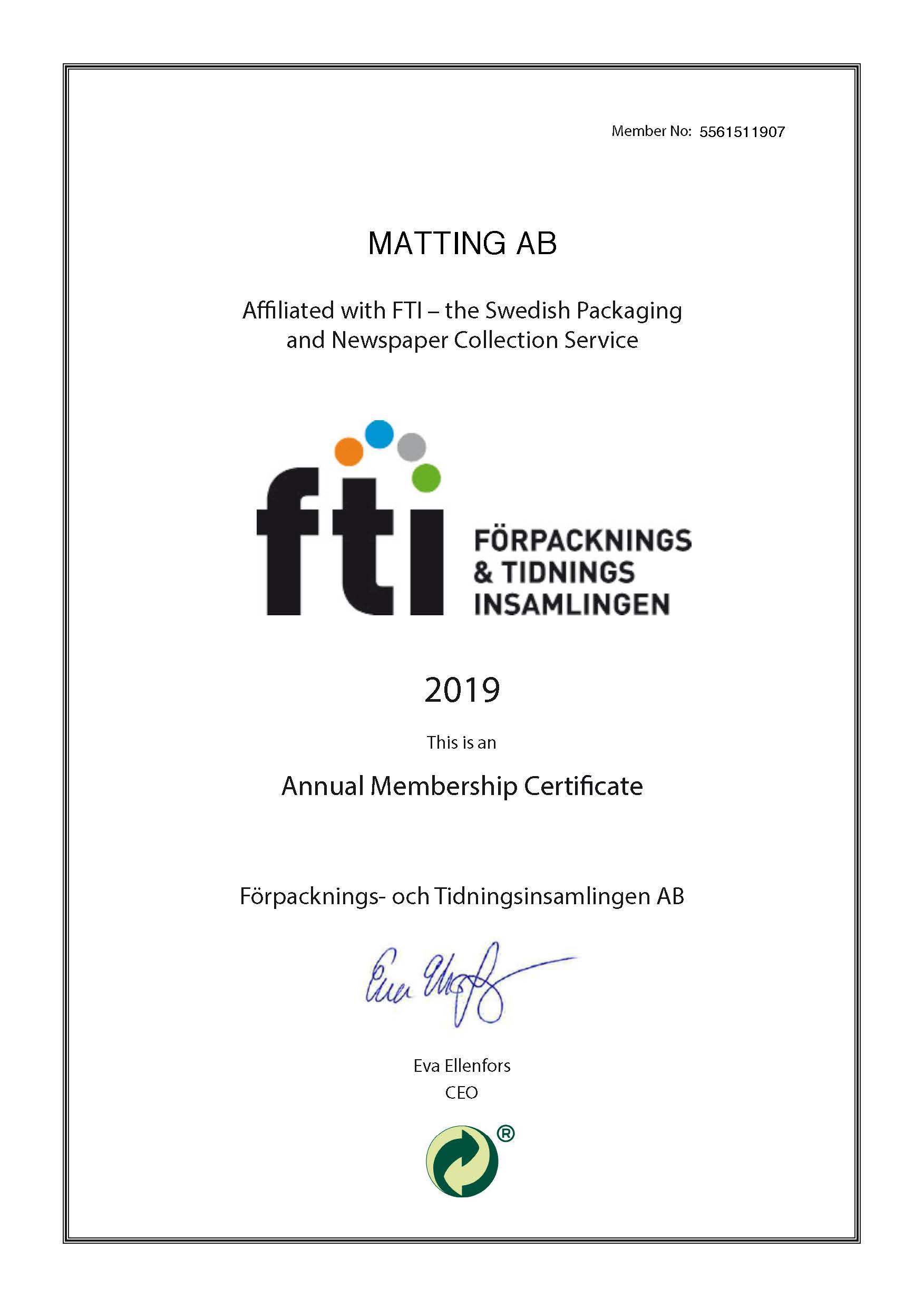 FTI Certificate Eng